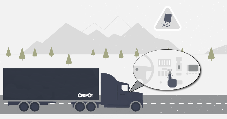 Onspot activated from the cab illustration